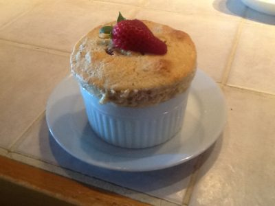 Oatmeal souffle at Timbercliffe Cottage, Central Maine