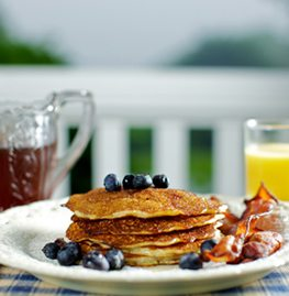 Camden Maine B&B delicious breakfasts including pancakes